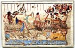 Mourners Crossing the Nile, Tomb of Nebamun and Ipuky