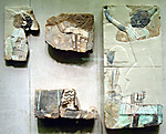 Tile from the walls of Throne Room in Palace of Ramesses II