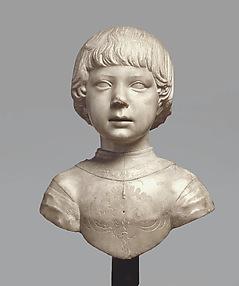 Bust of a Young Boy About Four Years Old