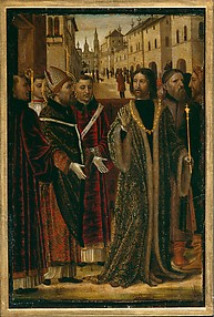 Saint Ambrose and Emperor Theodosius I