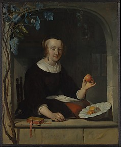 A Woman Seated at a Window