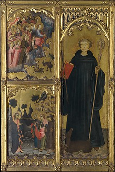 Saint Giles with Christ Triumphant over Sa...