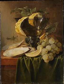 Still Life with a Glass and Oysters