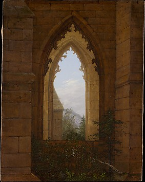 Gothic Windows in the Ruins of the Monaste...