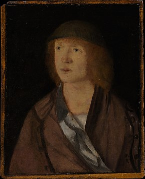 Portrait of a Young Man; (reverse) Girl Ma...