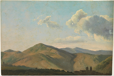 Mountainous Landscape at Vicovaro