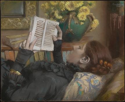 The Artist's Wife (Périe, 1849–1887) Reading