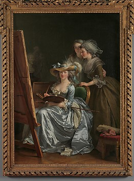 Self-Portrait with Two Pupils, Marie Gabri...