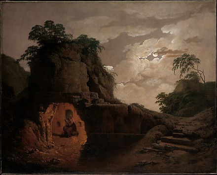 Virgil's Tomb by Moonlight, with Silius It...