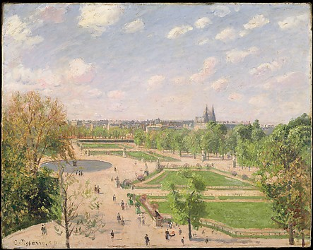 The Garden of the Tuileries on a Spring Mo...