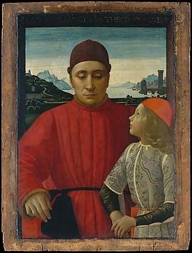Francesco Sassetti (1421–1490) and His Son...