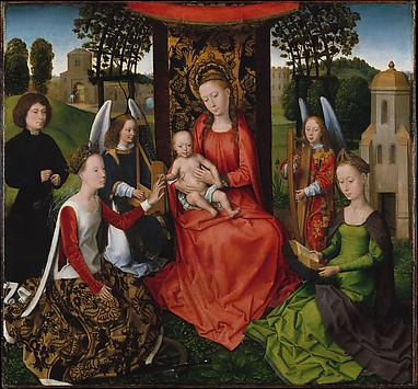 Virgin and Child with Saints Catherine of ...