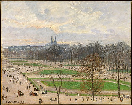 The Garden of the Tuileries on a Winter Af...