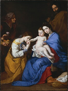 The Holy Family with Saints Anne and Cathe...