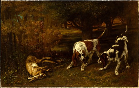 Hunting Dogs with Dead Hare