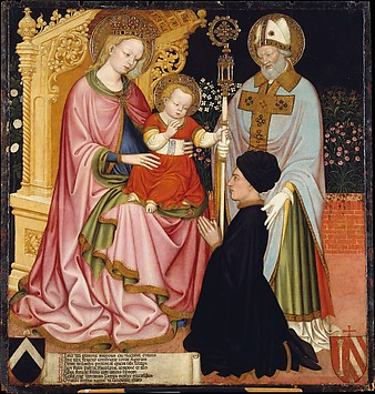 Madonna and Child with the Donor, Pietro d...
