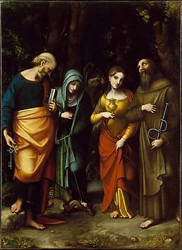 Saints Peter, Martha, Mary Magdalen, and L...