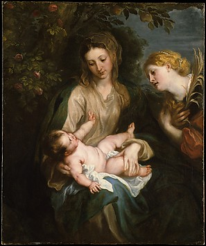 Virgin and Child with Saint Catherine of A...