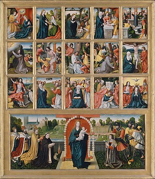 The Fifteen Mysteries and the Virgin of th...