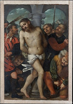 The Flagellation; (reverse) The Madonna of...