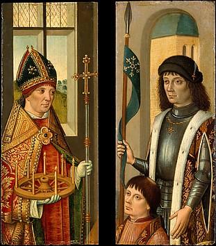 Saint Donatian; Saint Victor Presenting a ...