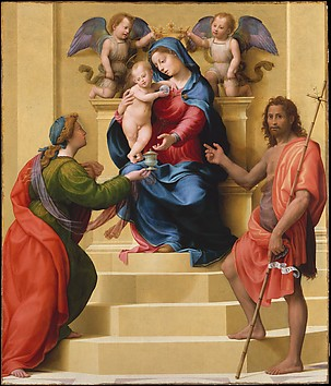 Madonna and Child Enthroned with Saints Ma...