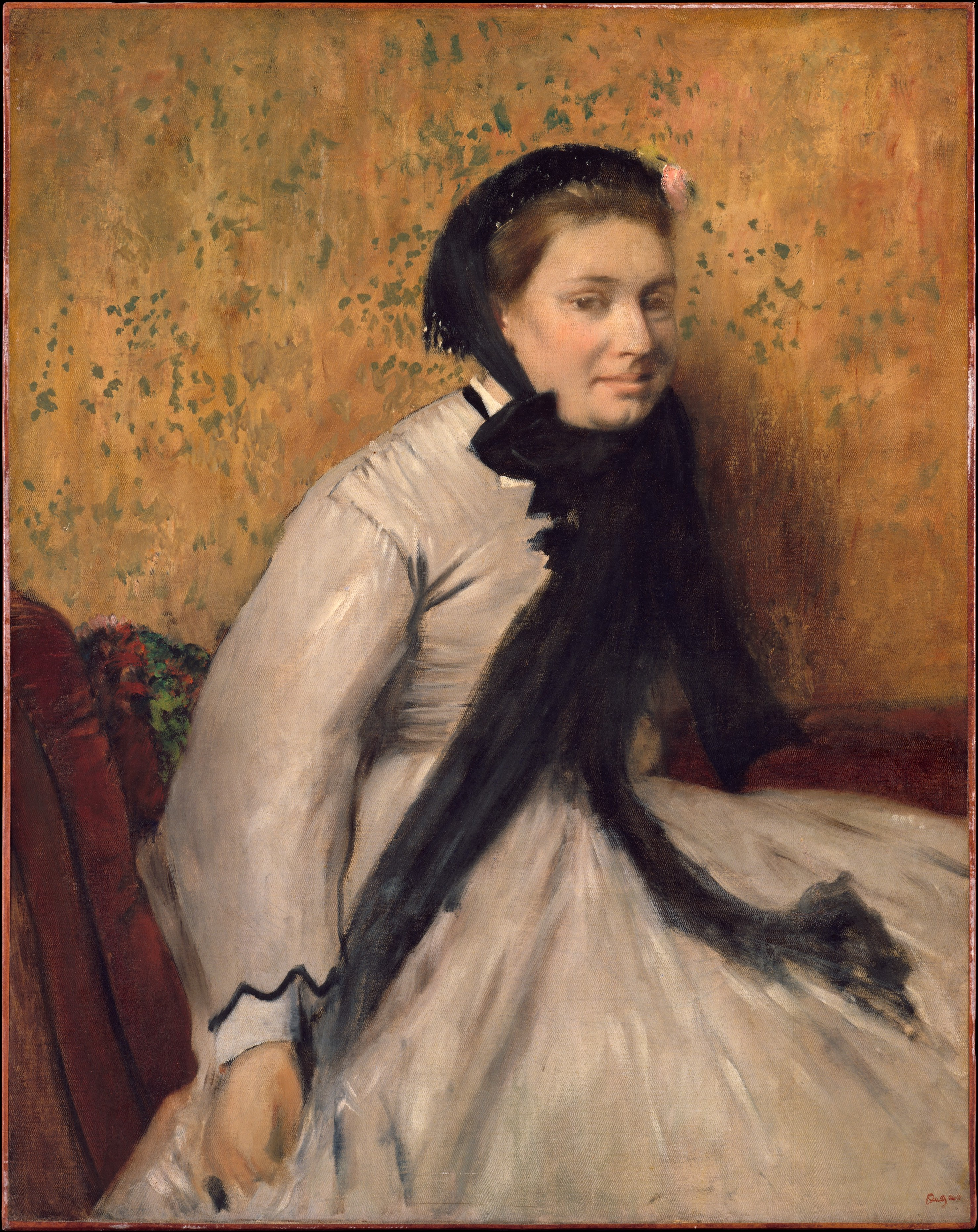 Edgar Degas | Portrait of a Woman in Gray | The ...