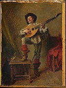 Soldier Playing the Theorbo