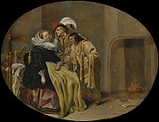 A Couple in an Interior with a Gypsy Fortune-Teller
