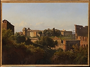 View of the Colosseum and the Arch of Constantine from the Palatine