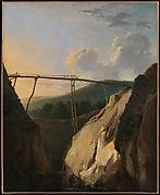 Mountainous Landscape with Bridge
