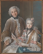 Double Portrait Presumed to Represent François de Jullienne (1722–1754) and His Wife (Marie Élisabeth de Séré de Rieux, 1724–1795)