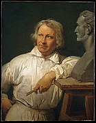 Bertel Thorvaldsen (1768–1844) with the Bust of Horace Vernet