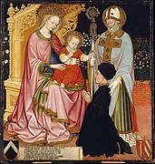 Madonna and Child with the Donor, Pietro de' Lardi, Presented by Saint Nicholas