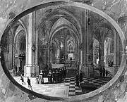 Interior of a Gothic Church at Night