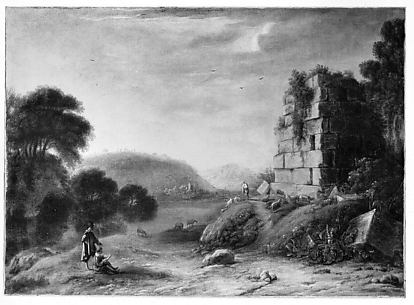 Landscape with an Artist Drawing
