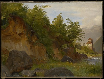 Landscape with a Castle on the River Etsch