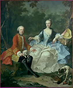 Count Giacomo Durazzo (1717–1794) in the Guise of a Huntsman with His Wife (Ernestine Aloisia Ungnad von Weissenwolff, 1732–1794)