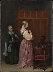 A Young Woman at Her Toilet with a Maid