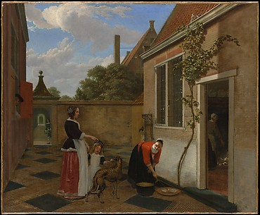 Scene in a Courtyard