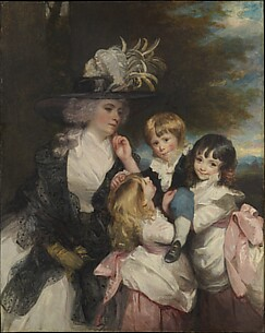 Lady Smith (Charlotte Delaval) and Her Children (George Henry, Louisa, and Charlotte)