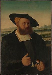 Portrait of a Man with a Moor&#39;s Head on His Signet Ring