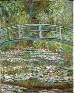 Bridge over a Pond of Water Lilies