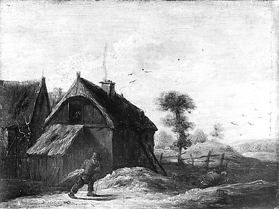 Landscape with Thatched Cottages