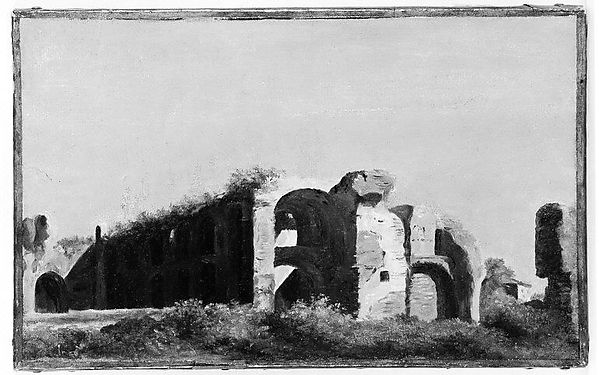 "Copy after Valenciennes's ""Ruins at the Villa Farnese"""