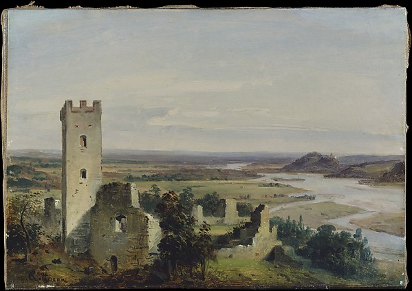 River Landscape with Castle Ruins