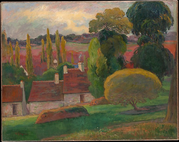 Paul Gauguin A Farm In Brittany The Met