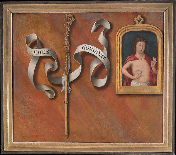 The Birth and Naming of Saint John the Baptist; (reverse) Trompe-l'oeil with Painting of The Man of Sorrows