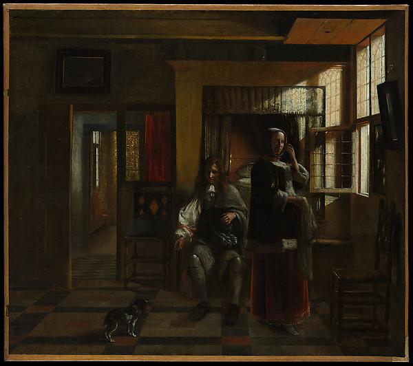 Interior with a Young Couple