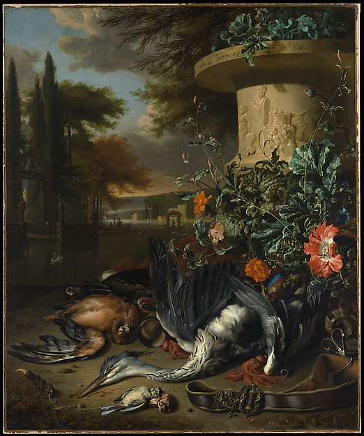 "Gamepiece with a Dead Heron (""Falconer's Bag"")"